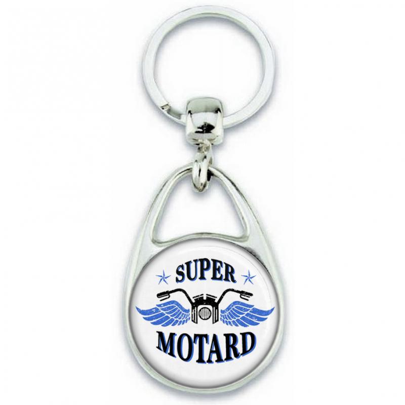 Porte-clés Motard - Cadeau motard - Super motard - Angora