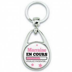 Porte-clés Marraine en cours... Veuillez Patienter - Angora