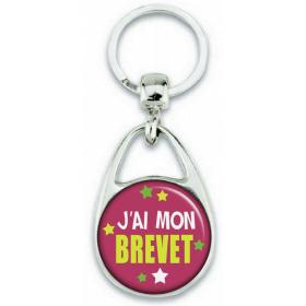 Porte-clés J'ai mon BREVET - Angora - Em création