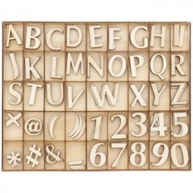 Alphabet en bois 132ps - Em création