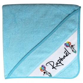 Cape bain personnalisée - Rose - Bleu - Fille - Garçon - Angora - Em création