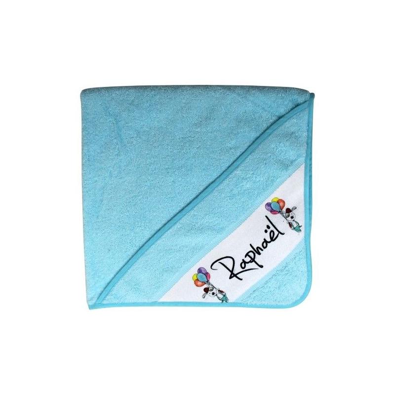 Cape bain personnalisée - Bleu