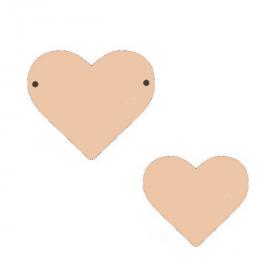 Suspension cœur à décorer - Miris - Em création