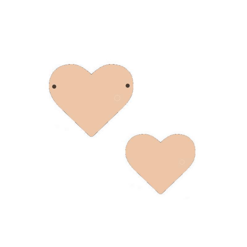 Suspension cœur à décorer - Miris