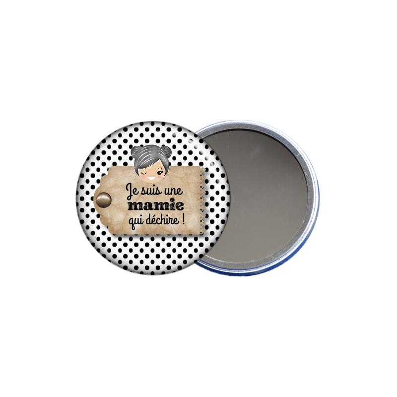 idée cadeau pour mamie, un miroir de poche mamie en vente sur em-creation.fr