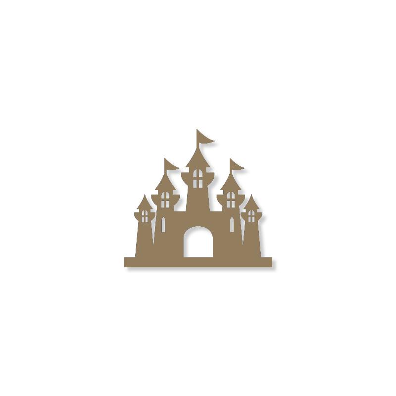 Chateau de princesse à décorer - à peindre - déco chambre de fille - Miris