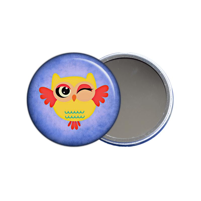 chouette miroir de poche à offrir, idée de cadeau pour femme original à découvrir sur em-creation.fr