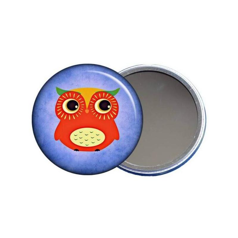 Miroir de poche petite chouette - angora