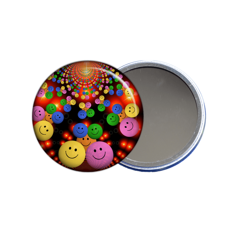 Miroir de poche smiley - angora