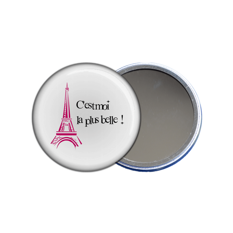 miroir de poche paris-miroir tour eiffel - souvenir de paris- em-creation.fr