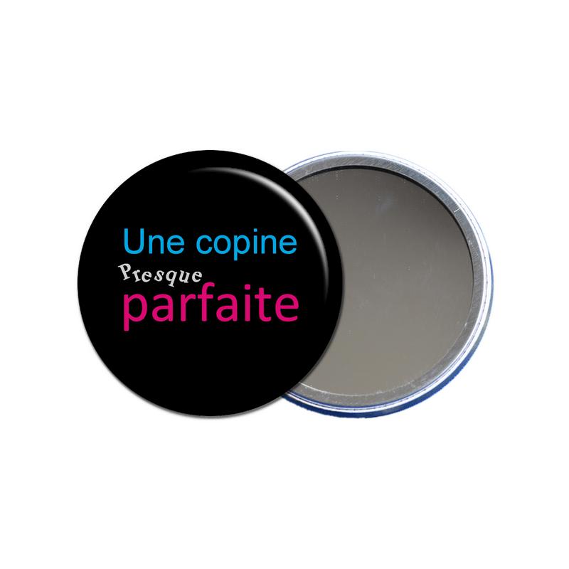 miroir de poche une copine presque parfaite en vente sur em-creation.fr