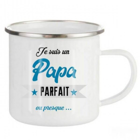 Mug emaillé Pour un papa parfait - Tasse rétro papa - Em création
