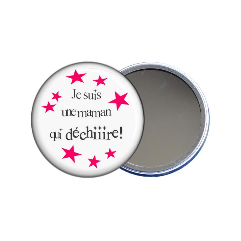 Idée cadeau maman, miroir de poche pour maman à découvrir sur em-creation.fr