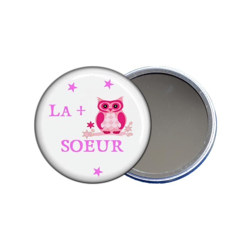 miroir de poche la plus chouette soeur - toutes les idées cadeaux sont sur em-creation.fr