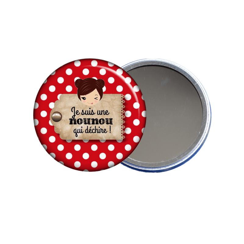 Idées cadeau pour nounou en vente sur em-creation.fr , miroir de poche nounou