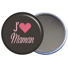 miroir de poche j'aime maman - toutes les idées cadeaux sont sur em-creation.fr - Em création