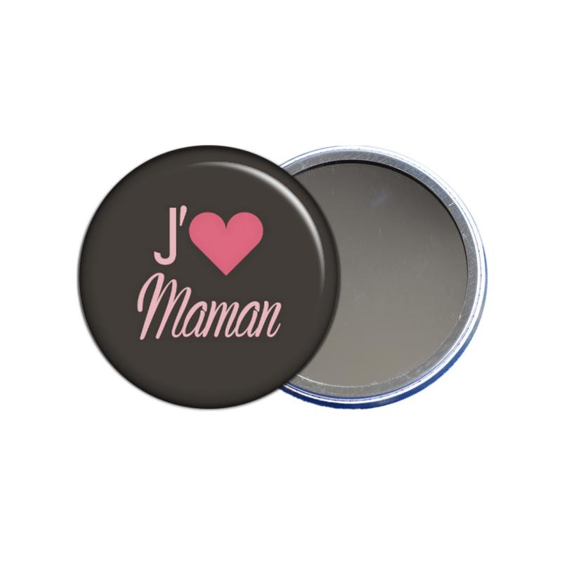 miroir de poche j'aime maman - toutes les idées cadeaux sont sur em-creation.fr
