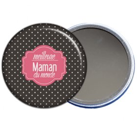 miroir de poche meilleure maman du monde - toutes les idées cadeaux sont sur em-creation.fr - Em création