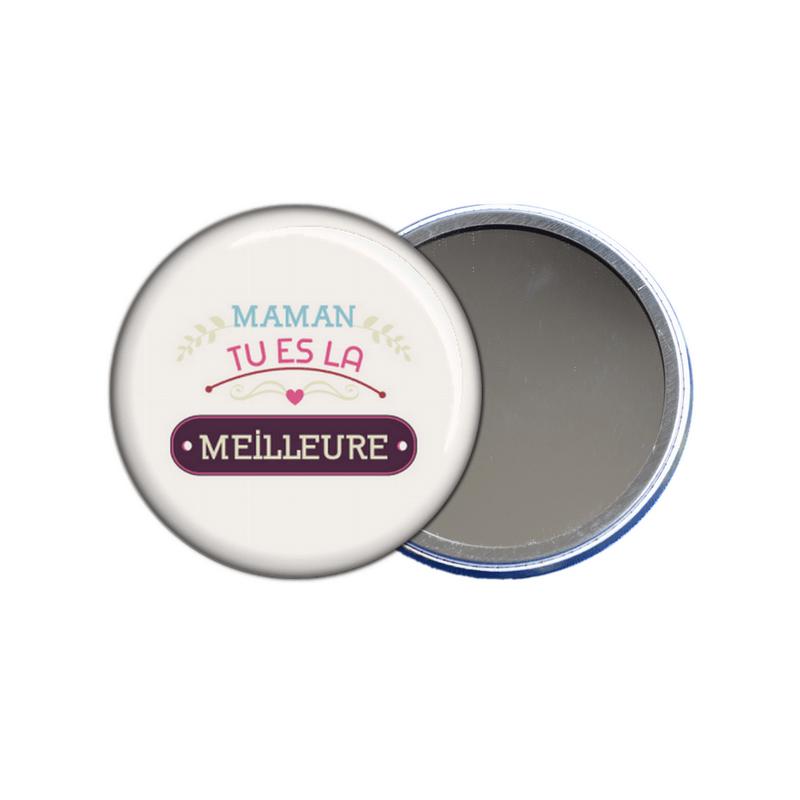 miroir de poche maman tu es la meilleure - toutes les idées cadeaux sont sur em-creation.fr