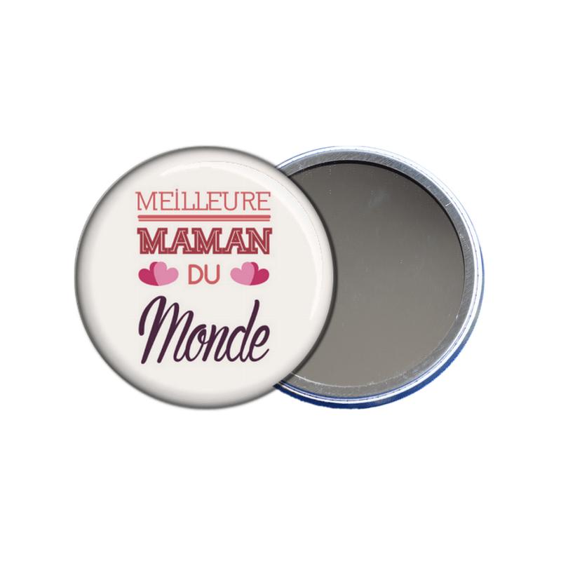 idée cadeau fête des mères - miroir de poche meilleure maman du monde - toutes les idées cadeaux sont sur em-creation.fr