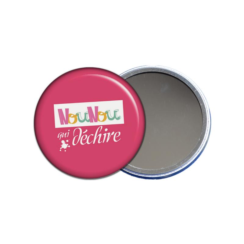 miroir de poche nounou qui déchire rose - toutes les idées cadeaux sont sur em-creation.fr
