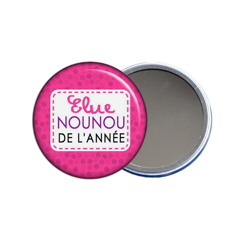 Miroir de poche pour nounou à découvrir sur em-creation.fr