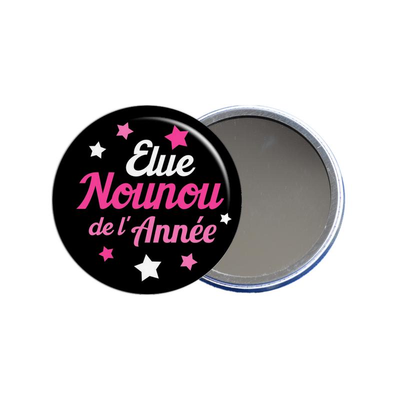 Miroir de poche pour nounou, idée cadeau nounou disponible sur em-creation.fr