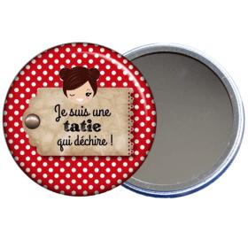 Miroir de poche pour tata en vente sur em-creation.fr - Em création