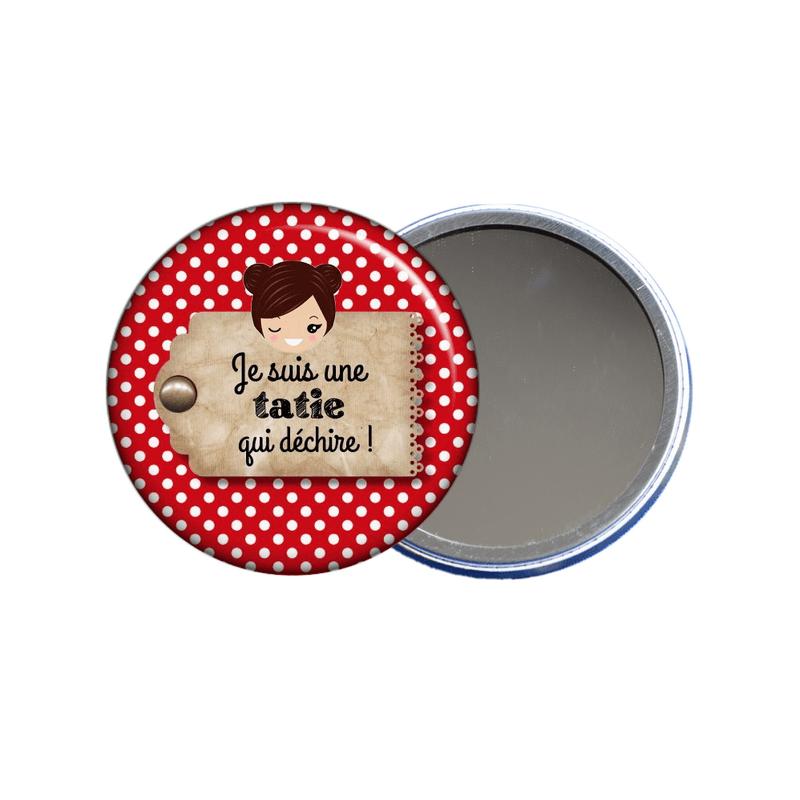 Miroir de poche pour tata en vente sur em-creation.fr