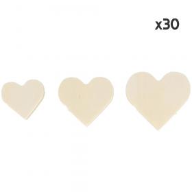 30 coeurs en bois à décorer - loisirs créatifs pas cher - Em création