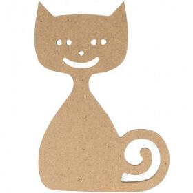 Chat à décorer - Chat à peindre - loisirs créatifs - Em création