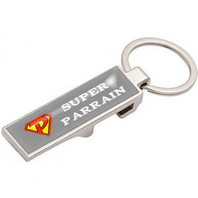 Décapsuleur Parrain - Super Parrain - idée cadeau baptême - Em création