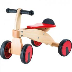 Porteur en bois - bolide 4 roues