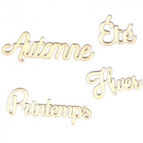 Mots à décorer - Hiver - Printemps - été - automne - saisons de l'année à décorer - artemio - Em création