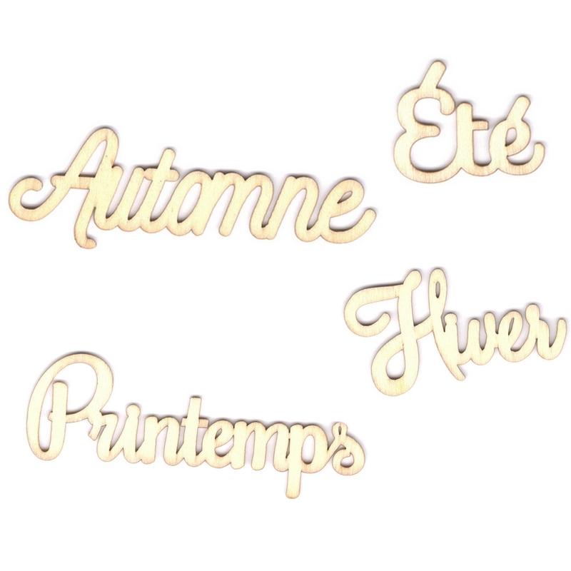 Mots à décorer - Hiver - Printemps - été - automne - saisons de l'année à décorer - artemio
