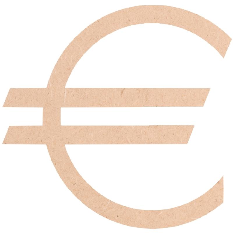 Euro à décorer - Bois mdf - objet à peindre - loisirs créatifs