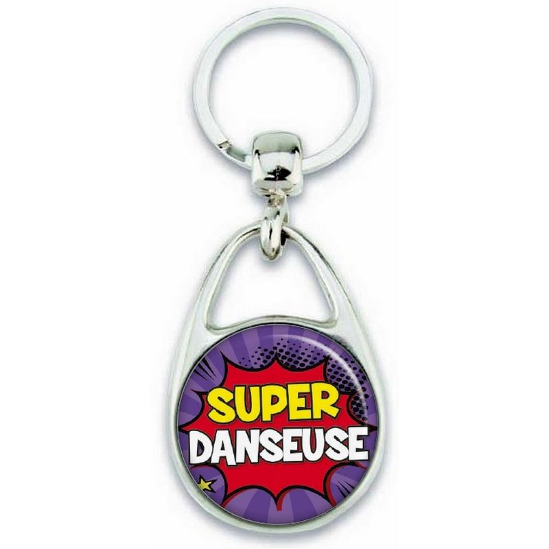Porte clés danseuse - Métal - idée cadeau Femme - angora