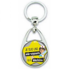 Porte clés aide soignante - angora - Em création