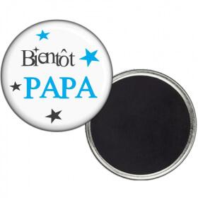 Magnet Bientôt PAPA - angora - Em création