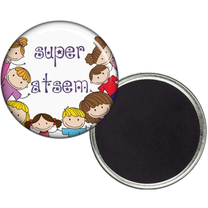 Magnet Atsem - Idée cadeau Atsem - Cadeau fin d'année scolaire Atsem -angora