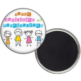 Magnet auxiliaire de puericulture - Idée cadeau auxiliaire de puericulture - angora - Em création