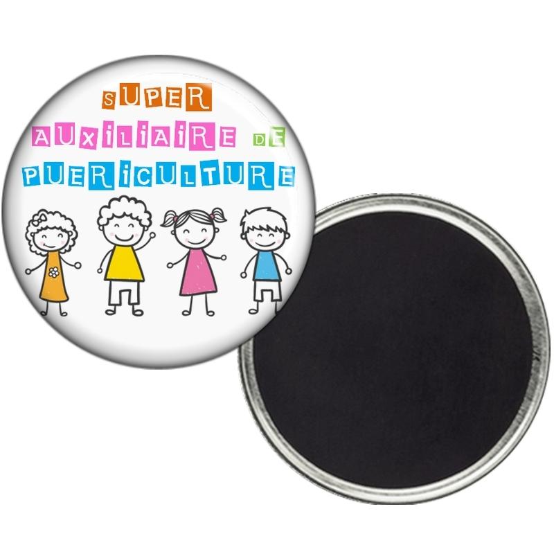 Magnet auxiliaire de puericulture - Idée cadeau auxiliaire de puericulture - angora