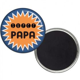 Magnet Papa - Magnet Super Papa - Idée cadeau Papa - Fête des pères - angora - Em création