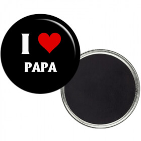 """Magnet """"I love papa"""" - angora - Em création"""
