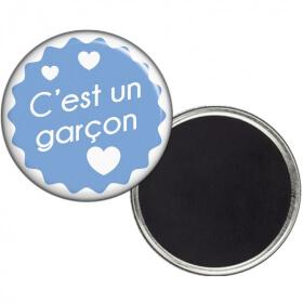 Magnet Garcon - Magnet Naissance - Magnet faire part de Nasisance - angora - Em création