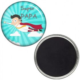 Magnet Super PAPA - idée cadeau - Em création - Em création