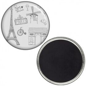 Magnet PARIS - Souvenir de Paris - Idée cadeau - Angora - Em création