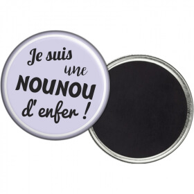 Magnet nounou - Idée cadeau Nounou - angora - Em création