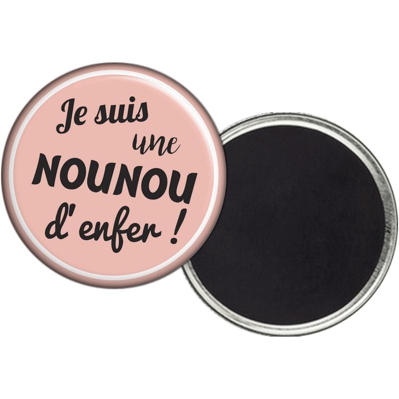 Magnet nounou - Idée cadeau Nounou - angora