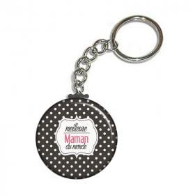 Porte-clés Maman - angora - Em création